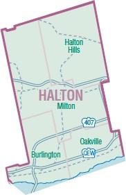 Halton Region Map